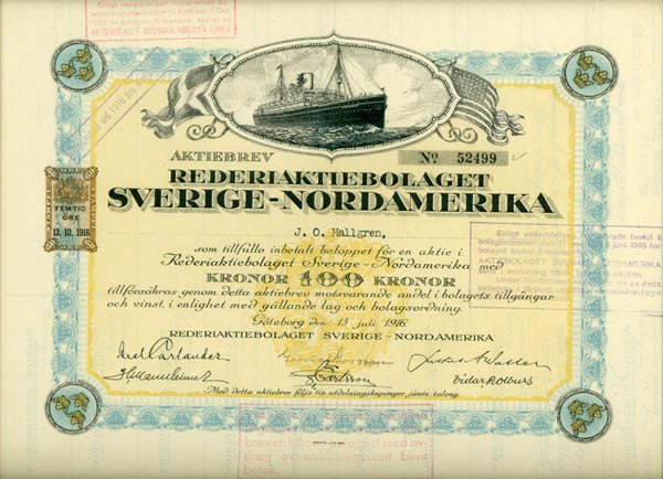 Share certificate 1916
