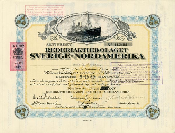 Share certificate 1917