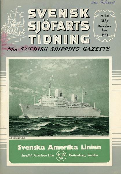Journal Svensk Sjöfartstidning Kungsholm Issue 1953