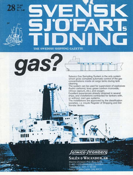 Journal Svensk Sjöfartstidning about Exchange voyages 1974