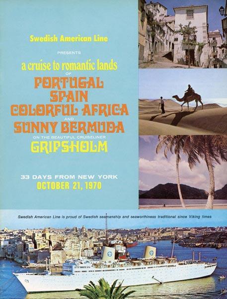 Broschyr Kryssning 1970 10 21