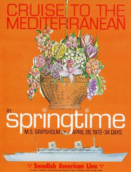 Broschyr Kryssning 1972 04 26