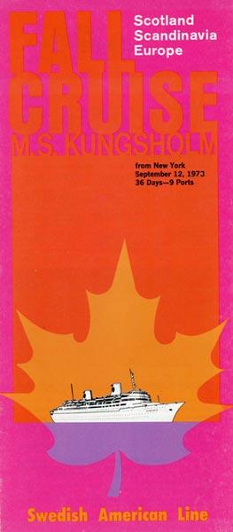 Broschyr Kryssning 1973 09 12