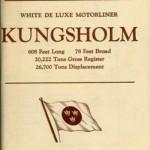 Cruise plan Kungsholm 1935