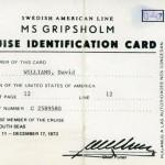 Identification card 1973