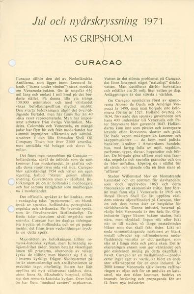 Kryssningsinformation Curacao
