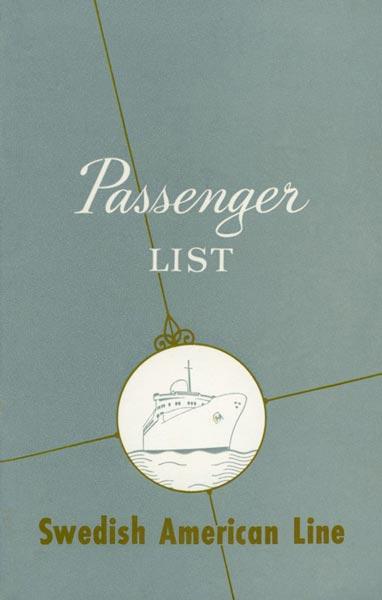Passagerarlista Kryssning 610105 West Indies