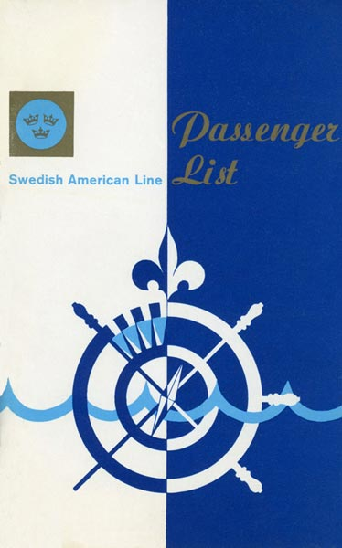 Passagerarlista Kryssning 700904 Mayflower pilgrim cruise