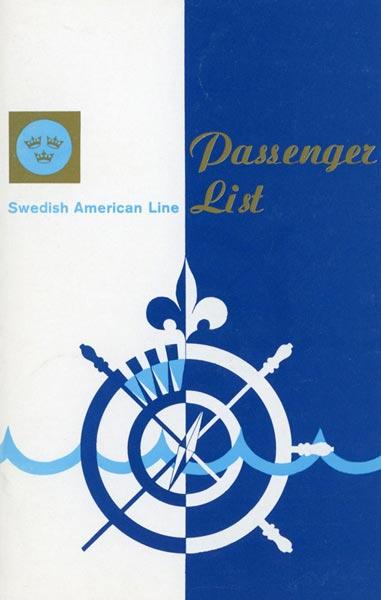 Passagerarlista Kryssning 720915 Mediterranean Africa Bermuda