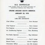 Passagerarlista Kryssning 750122 South america