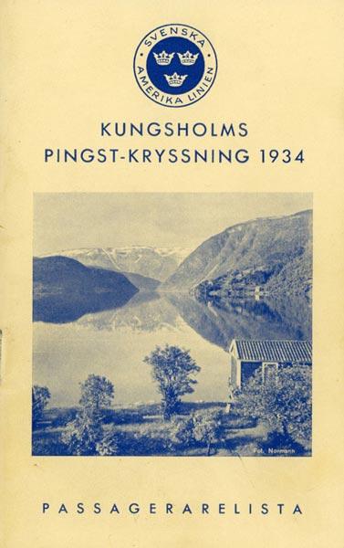 Passagerarlista Pingstkryssning 1934
