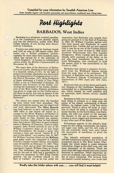 Port highlights Barbados West Indies