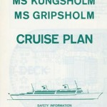 Brochure Cruise plan Kungsholm Gripsholm 1966