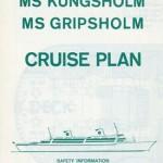 Brochure Cruise plan Kungsholm Gripsholm 1966