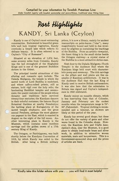 Port highlights Kandy Sri Lanka