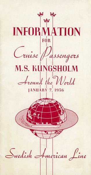 Brochure Information for cruise passengers 1956