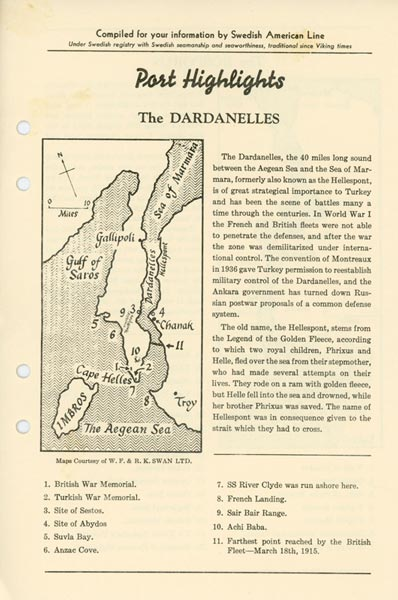 Port Highlights The Dardanelles