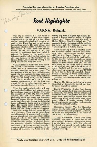 Port Highlights Varna Bulgaria