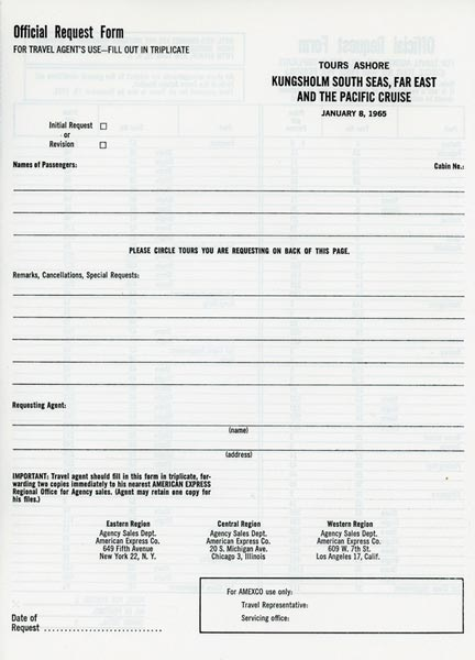 Request form 1964
