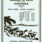 Schedule of rates Kungsholm Cruise 1935 1936