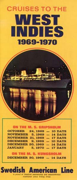 Broschyr Kryssning 1969 - 1970