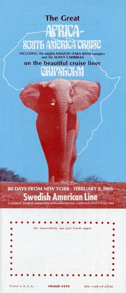 Broschyr Kryssning 1969 0208