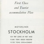 Brochure  Accommondation plan Stockholm 1954