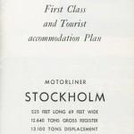 Brochure  Accommondation plan Stockholm 1954