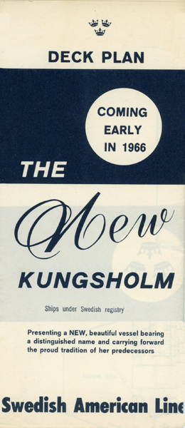 Brochure Deckplan the new Kungsholm 1966