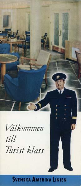 Brochure Välkommen till turistklass 1950