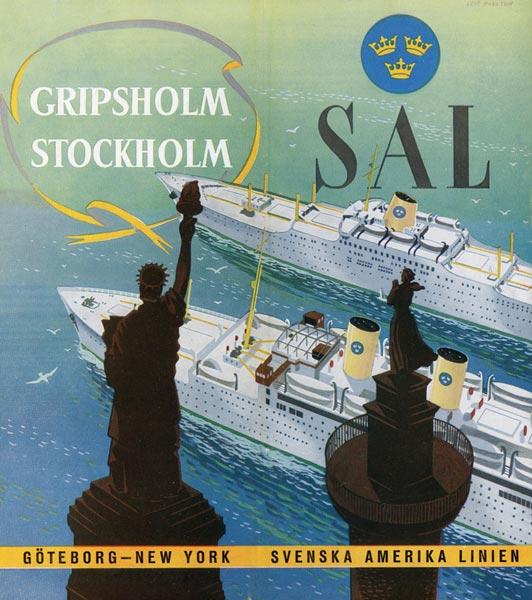 Brochure Gripsholm Stockholm 1950