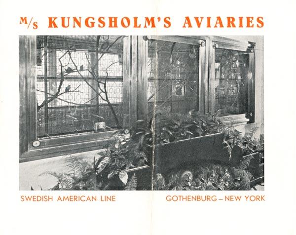 Brochure Kungsholms Aviaries 1931