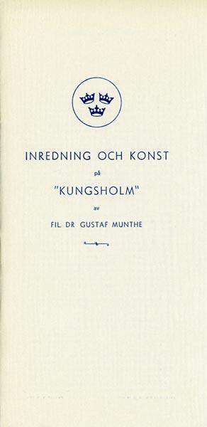 Brochure Inredning och konst på Kungsholm 1953