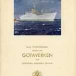 Brochure MS Stockholm 1948