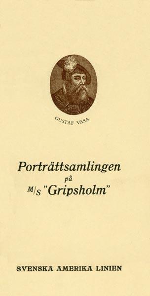 Brochure Porträttsamlingarna på MS Gripsholm 1926