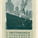 Brochure Schwedische Amerika Linie in german 1924