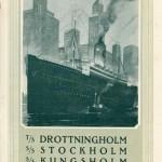 Brochure Schwedische Amerika Linie in german 1924