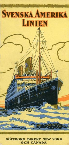 Brochure Svenska Amerika Linien 1929