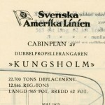Deck plan Kungsholm 1923