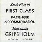 Deck plan First class Gripsholm 1950