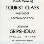 Deck plan Gripsholm Tourist class 1950