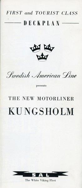 Deck plan Kungsholm 1955