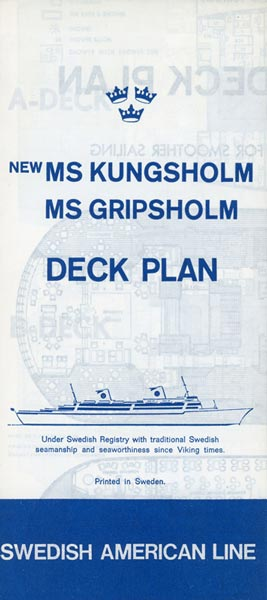 Deck plan Kungsholm Gripsholm 1966