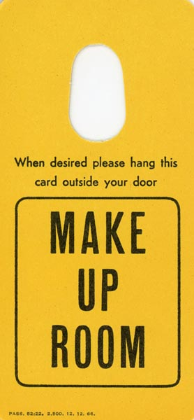 Door tag cleaning 1966