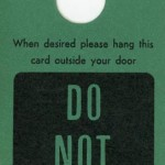Door tag Do not disturb