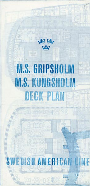 Brochure Deck plan Gripsholm Kungsholm 1963