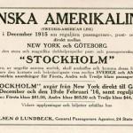 Information Stockholm 1915