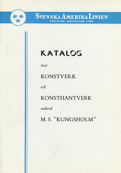 Catalog Artwork and Crafts Kungsholm 1953