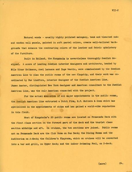Kungsholm 1953 description 2