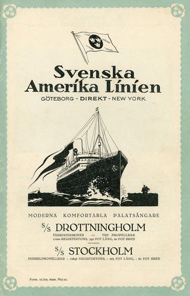 Brochure Drottningholm Stockholm 1921
